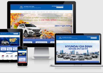 Website Bán Xe Hyundai Gia Định