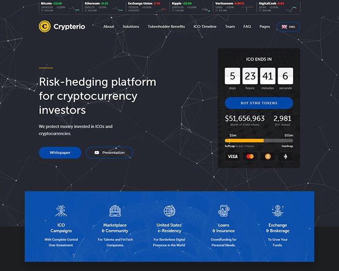 Crypterio - Giao Diện Website Bitcoin, Đầu Tư ICO, Đồng Tiền Ảo 1