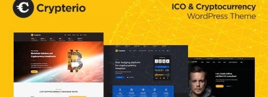 Crypterio – Giao Diện Website Bitcoin, Đầu Tư ICO, Đồng Tiền Ảo