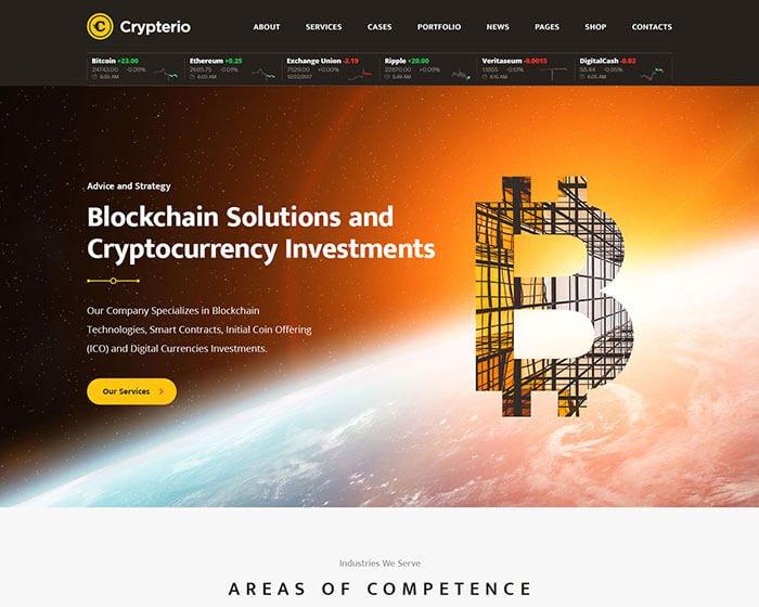 Crypterio - Giao Diện Website Bitcoin, Đầu Tư ICO, Đồng Tiền Ảo 5