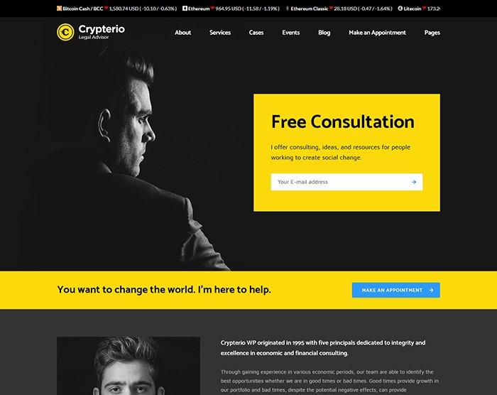 Crypterio - Giao Diện Website Bitcoin, Đầu Tư ICO, Đồng Tiền Ảo 3
