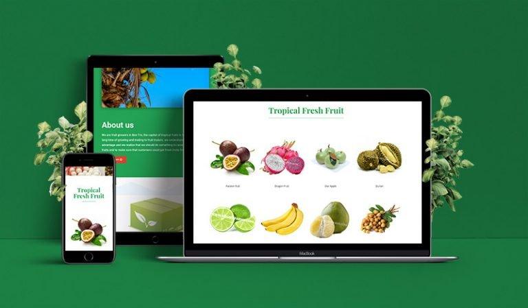 Website Xuất Khẩu Trái Cây Tươi