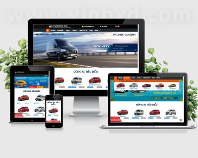 Thiết Kế Website Bán Xe Hyundaisg