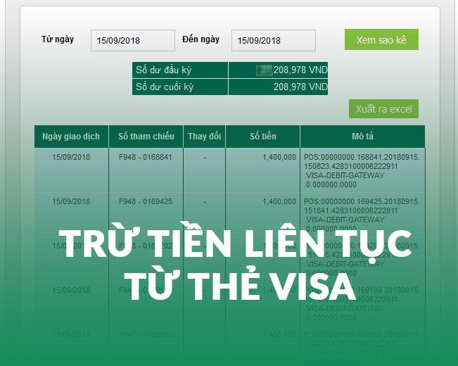 Bị Rút Tiền Không Rõ Từ Thẻ VISA Thì Làm Gì? 1