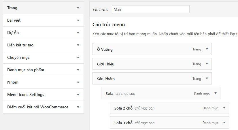 Làm Việc Với Menu Trên Wordpress 3