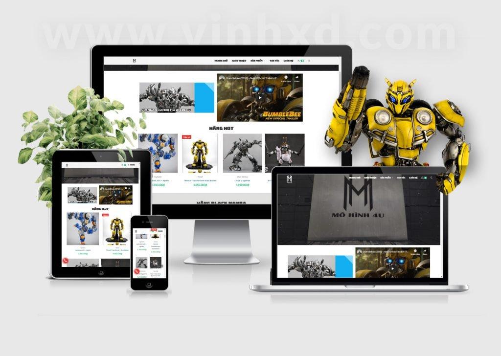 Website Mô Hình mohinh4u.com 1