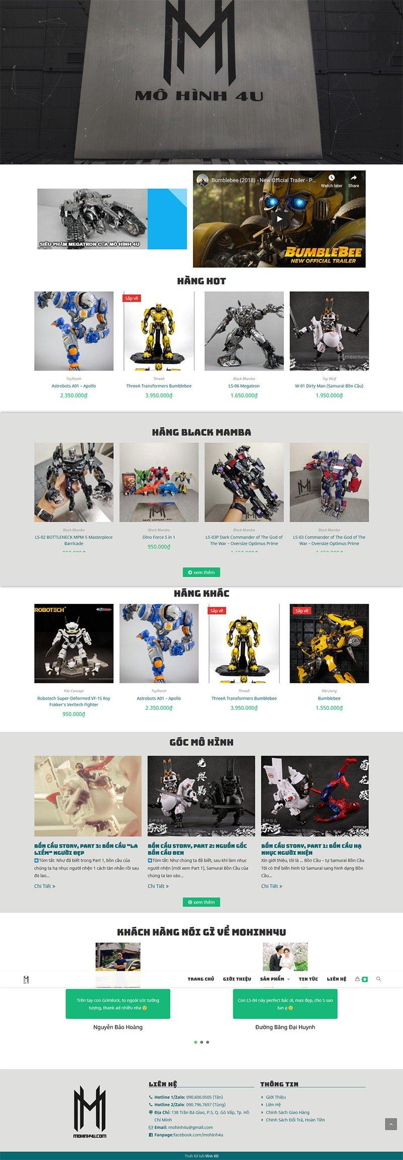 Website Mô Hình mohinh4u.com 5
