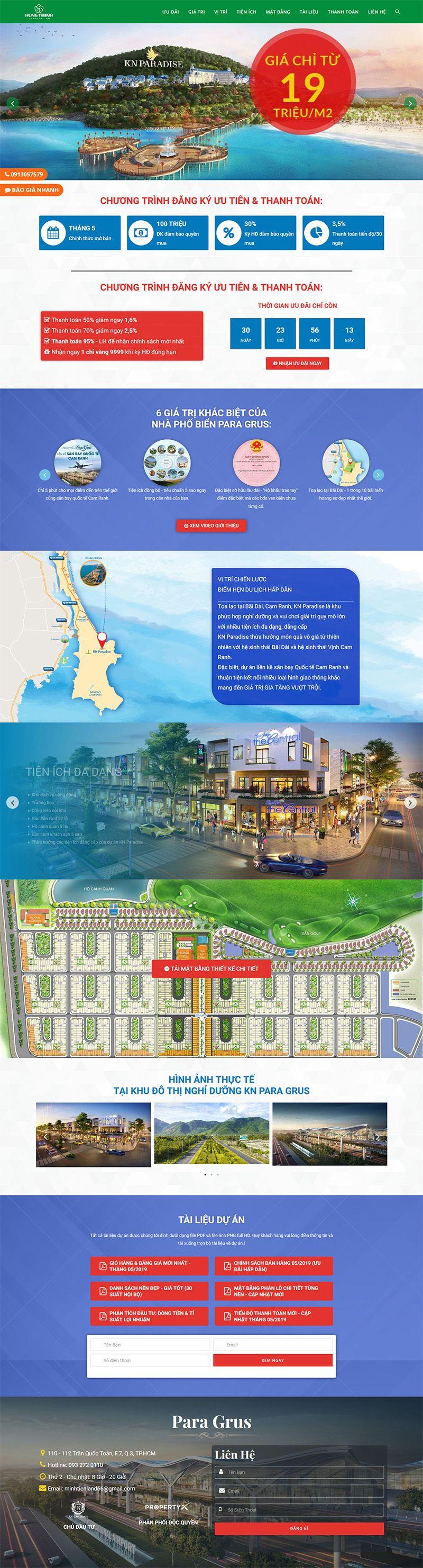 Landing Page Cam Ranh Para Grus 2