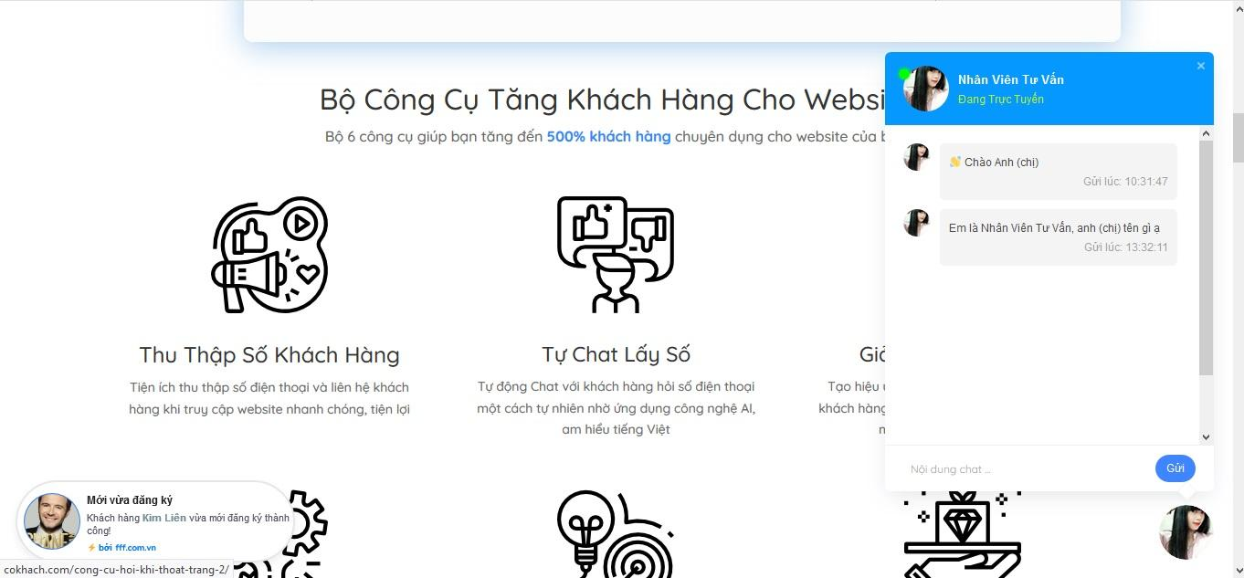 Chat Trên Website 3