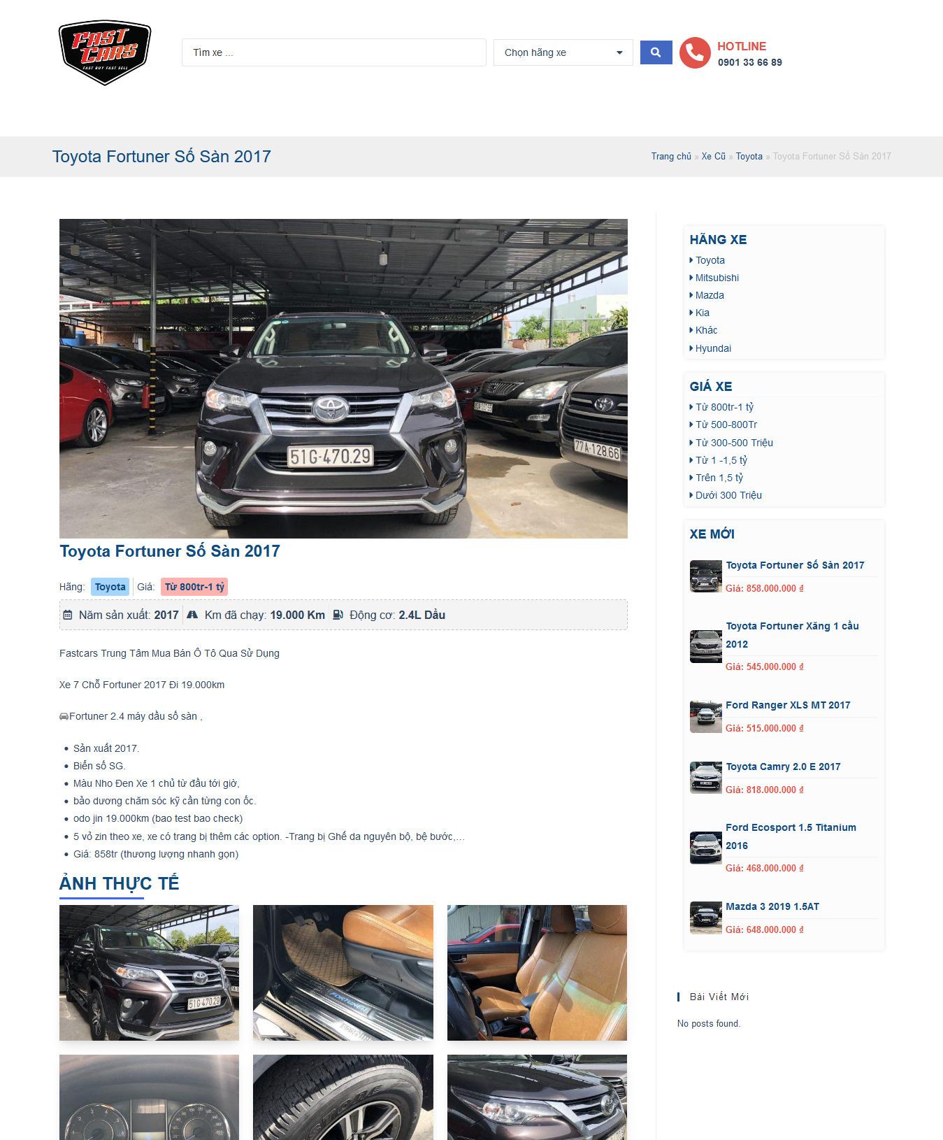 Website Xe Cũ Fastcar 3