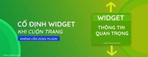 Read more about the article Cố Định Widget Khi Cuộn( Fixed Widget)